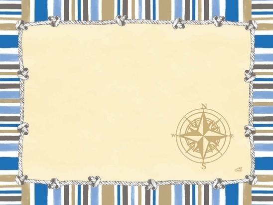 Duni Tischset aus Papier Motiv Marine, 30 x 40 cm, 250 Stück