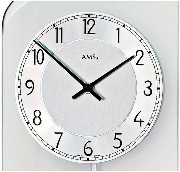 AMS 7436 Wanduhr Quarz-Pendeluhr - Serie: AMS Design