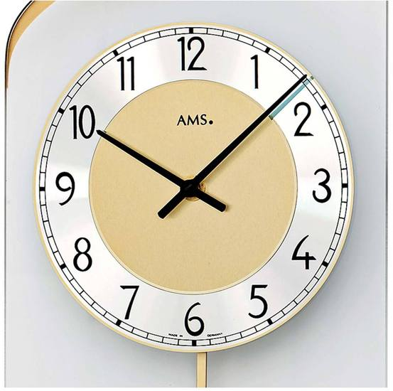 AMS 7437 Wanduhr Quarz-Pendeluhr - Serie: AMS Design