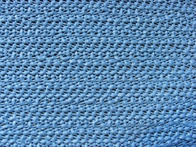 Grasekamp Tischdecke aus Schaumstoff 160x210cm oval grau/blau 377501