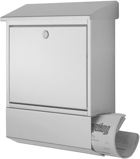 heibi edelstahl briefkasten 43817 mit zeitungsfach. Black Bedroom Furniture Sets. Home Design Ideas