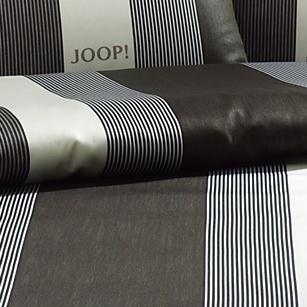 bilder joop mako satin bettw sche stripe gestreift kiesel bezug 135x200 cm kissenbezug. Black Bedroom Furniture Sets. Home Design Ideas