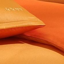 bilder joop mako satin bettw sche micro pattern falsches uni orange bezug 135x200 cm. Black Bedroom Furniture Sets. Home Design Ideas