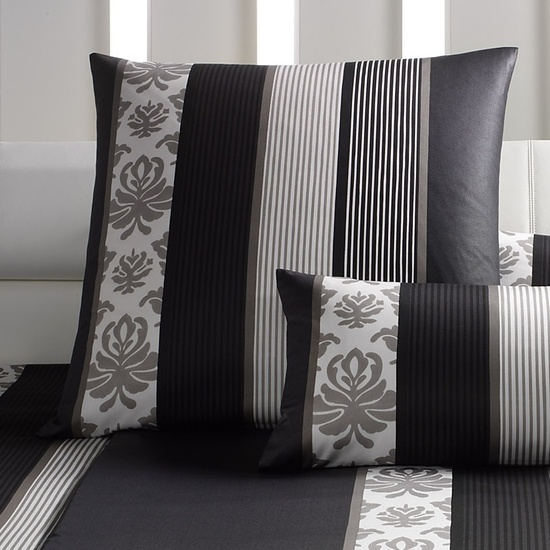bilder joop mako satin bettw sche ornament stripe schwarz bezug 135x200 cm kissenbezug. Black Bedroom Furniture Sets. Home Design Ideas