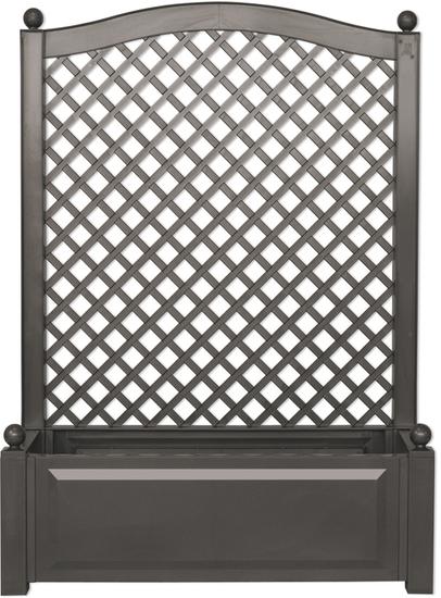 westfalia pflanzkasten mit rankgitter 100 cm breit farbe anthrazit 37005 preisvergleich. Black Bedroom Furniture Sets. Home Design Ideas