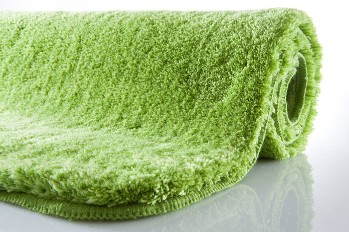 Kleine Wolke Badteppich Relax Kiwigrün rund 80 cm