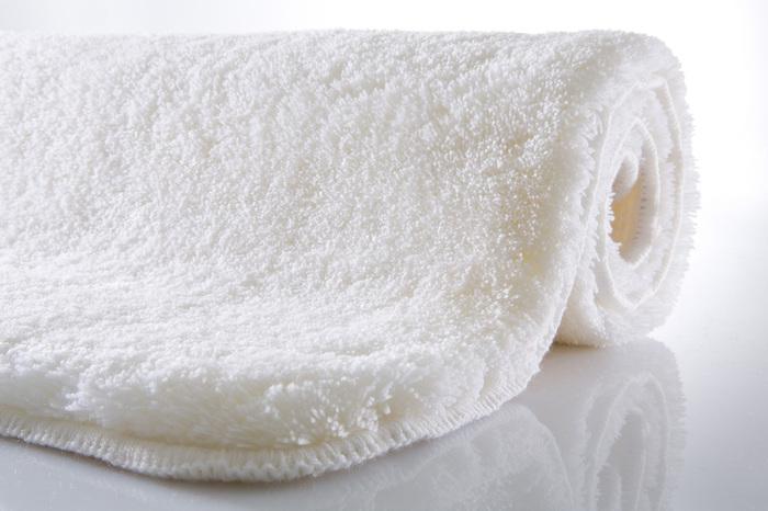 Kleine Wolke Badteppich Relax Polarweiss rund 80 cm
