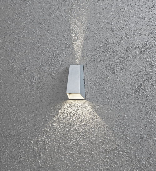 KONSTSMIDE Imola Wandleuchte Up & Down, grau lackiertes Aluminium, klares Acrylglas 7911-310
