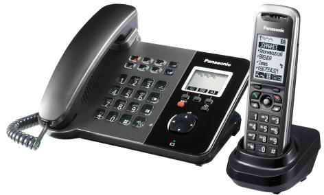 Panasonic KX-TGP550T01 SIP DECT Telefon mit Mobilteil