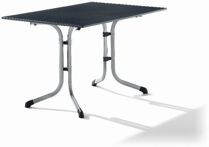 sieger 1160 50 boulevard tisch mit puroplan platte 120 x 80 cm stahlrohrgestell graphit. Black Bedroom Furniture Sets. Home Design Ideas