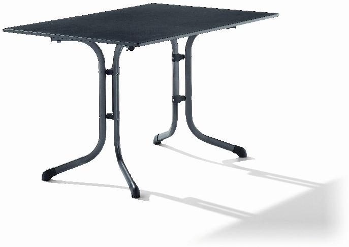 sieger 1160 55 boulevard tisch mit puroplan platte 120 x 80 cm stahlrohrgestell eisengrau. Black Bedroom Furniture Sets. Home Design Ideas