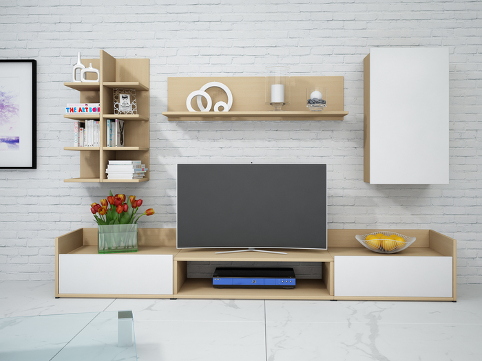 lowboard wei buche inspirierendes design. Black Bedroom Furniture Sets. Home Design Ideas