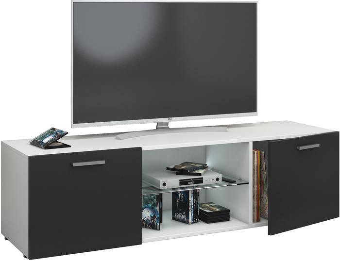 tv lowboard h ngend schwarz. Black Bedroom Furniture Sets. Home Design Ideas