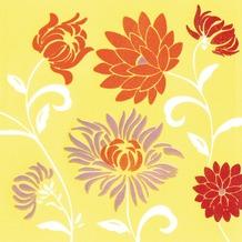 Duni Untersetzer 8lagig Tissue Motiv Capri Summer, 9 x 9 cm, 20 Stück