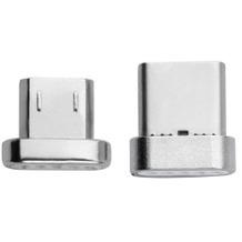 4smarts GRAVITYCord Magnetischer USB Typ-C- & Micro-USB-Stecker, 2-er Pack