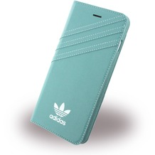 adidas Basics - Stand Case - Apple iPhone 7 Plus - Mineral Grün-Weiss