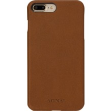 AGNA iPlate Real Leather for iPhone 7 Plus cognac