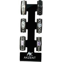 Akzent Uhren-Ständer für 6 Uhren, schwarz - schwarz