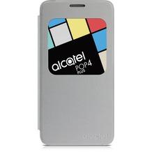 Alcatel onetouch Flipcover für POP 4 PLUS - metal silver