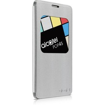 Alcatel onetouch Flipcover für POP 4S - metal silver