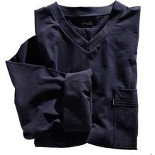 AMMANN Shirt 1/1 Arm, V-Ausschnitt, Brusttasche, dunkelblau Gr. 4XL