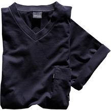 AMMANN Shirt 1/2 Arm, V-Ausschnitt, Brusttasche, dunkelblau Gr. 4XL