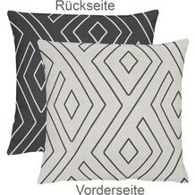 APELT Mistral Easy elegance Kissenhülle grau-schwarz 46 cm x 46 cm