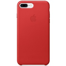 Apple iPhone 7 Plus Leather Case, Red