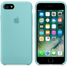 Apple Silicone Case für iPhone 7 - meerblau