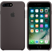 Apple Silicone Case für iPhone 7 Plus - kakao