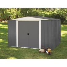 gartenhaus carport in der farbe grau. Black Bedroom Furniture Sets. Home Design Ideas