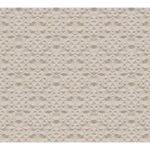 AS Création 3D Mustertapete Simply Decor Tapete beige braun metallic 10,05 m x 0,53 m