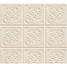 AS Création 3D Mustertapete Simply Decor Tapete beige metallic 10,05 m x 0,53 m