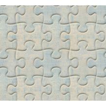 AS Création 3D Mustertapete Simply Decor Tapete blau grau metallic 10,05 m x 0,53 m