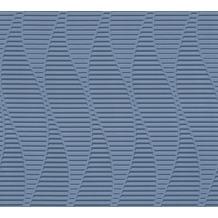 AS Création 3D Mustertapete Simply Decor Tapete blau metallic 10,05 m x 0,53 m