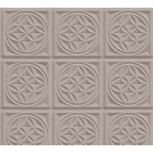 AS Création 3D Mustertapete Simply Decor Tapete braun metallic 10,05 m x 0,53 m