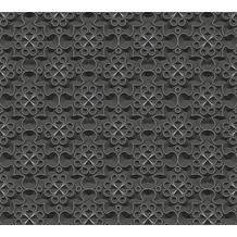AS Création 3D Mustertapete Simply Decor Tapete metallic schwarz 10,05 m x 0,53 m