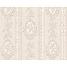 AS Création barocke Mustertapete Belle Epoque Strukturprofiltapete beige creme metallic 10,05 m x 0,53 m