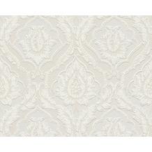 AS Création barocke Mustertapete Belle Epoque Strukturprofiltapete beige weiß 10,05 m x 0,53 m