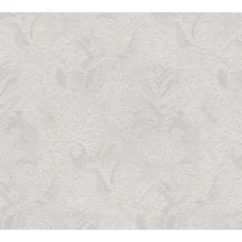 AS Création barocke Mustertapete Belle Epoque Strukturprofiltapete grau metallic 10,05 m x 0,53 m
