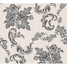 AS Création barocke Mustertapete Belle Epoque Strukturprofiltapete grau metallic schwarz 10,05 m x 0,53 m