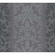 AS Création barocke Mustertapete Reflection Vliestapete Tapete grau metallic schwarz 10,05 m x 0,53 m