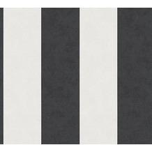AS Création Blockstreifentapete Memory 3 Vliestapete creme schwarz 10,05 m x 0,53 m