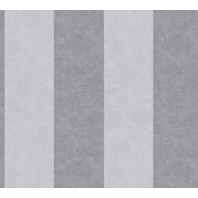 AS Création Blockstreifentapete Memory 3 Vliestapete grau 10,05 m x 0,53 m