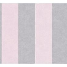 AS Création Blockstreifentapete Memory 3 Vliestapete grau rosa 10,05 m x 0,53 m
