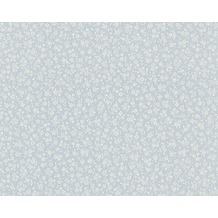 AS Création Blümchentapete Fleuri Pastel, Tapete, blau, weiss 10,05 m x 0,53 m