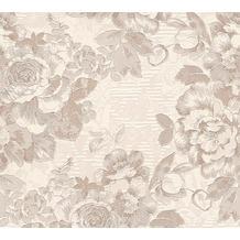 AS Création florale Mustertapete Belle Epoque Strukturprofiltapete braun creme metallic 10,05 m x 0,53 m