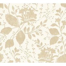 AS Création florale Mustertapete Memory 3 Vliestapete beige weiß 10,05 m x 0,53 m