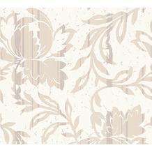 AS Création florale Mustertapete New Look Vliestapete beige creme metallic 10,05 m x 0,53 m