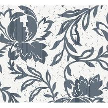 AS Création florale Mustertapete New Look Vliestapete blau creme grau 10,05 m x 0,53 m